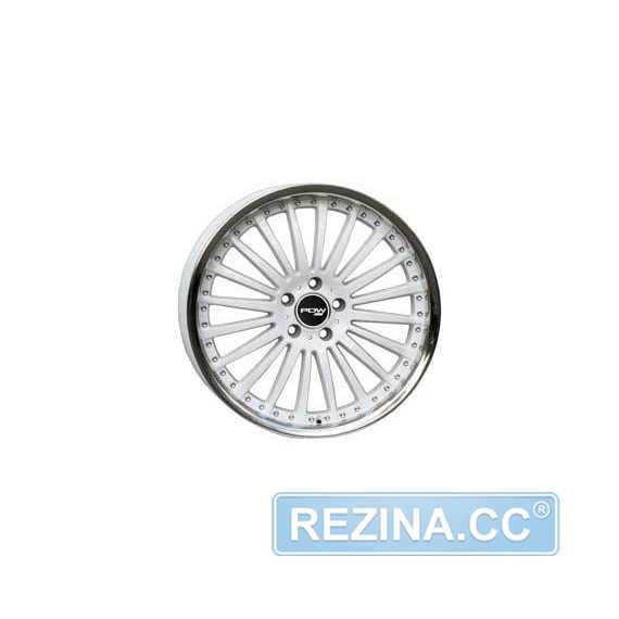 PDW 890 C-16 (W Inox - Белый с ободом из нержавейки) - rezina.cc