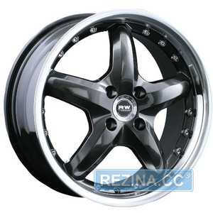 Купить RW (RACING WHEELS) H-303 BK/P R17 W7 PCD5x112 ET35 DIA73.1