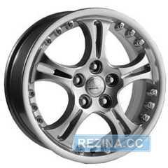 Купить СКАД ВЕНЕРА-2 (АНТРАЦИТ-АЛМАЗ) R16 W6.5 PCD5x112 ET38 DIA66.1
