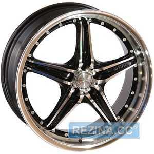 Купить LEAGUE LG 208 FMBK R17 W7 PCD4x108 ET40 DIA73.1