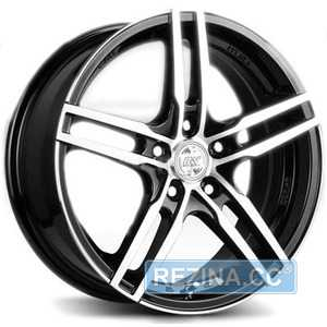 Купить RW (RACING WHEELS) H 534 BKFP R15 W6.5 PCD4x100 ET40 DIA67.1