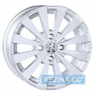 Купить REPLICA Peugeot JT 1147 Silver R14 W6 PCD4x108 ET15 DIA65.1