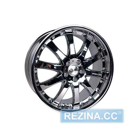RW (RACING WHEELS) H-332A Chrome - rezina.cc
