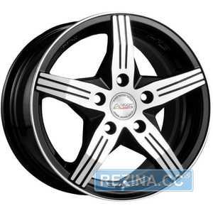 Купить RW (RACING WHEELS) H-458 BKF/P R14 W6 PCD4x100 ET38 DIA67.1