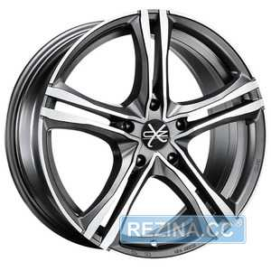Купить OZ X5B MATT GRAPHITE DIAMOND CUT R16 W7 PCD5x100 ET35 DIA75