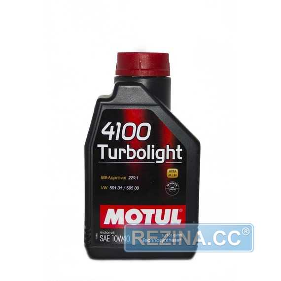 Моторное масло Motul 4100 Turbolight 10w40 60л - фото 7
