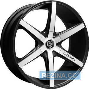 Купить LEXANI R-6 Flat Blk/Mach Face R20 W10 PCD5x112 ET42 HUB74.1