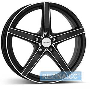 Купить DEZENT RN dark BASE Black/polished R18 W8 PCD5x108 ET40 DIA70.1
