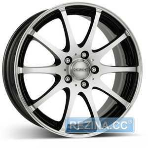 Купить DEZENT V dark BASE Black/polished R17 W7 PCD5x114.3 ET40 DIA71.6