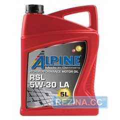 Купить Моторное масло ALPINE RSL 5W-30 LA SN/CF (5л)