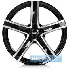 Купить RIAL QUINTO Diamond Black Front Polished R20 W9.5 PCD5x120 ET38 DIA72.6