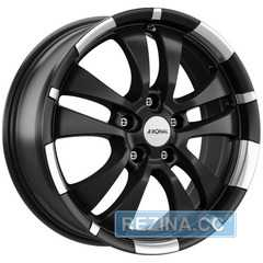 Легковой диск RONAL R59 Jet Black Matt-Rim Lip Diamond Cut - rezina.cc