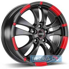 Легковой диск RONAL R59 Jet Black-matt-red ​rim - rezina.cc
