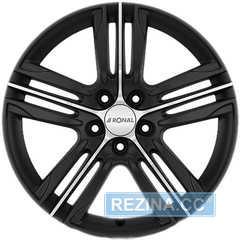 Легковой диск RONAL R57 Matt Black-front diamond cut - rezina.cc