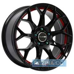 Легковой диск PDW Scorpio Black Machine Face With Red Under Cut - rezina.cc