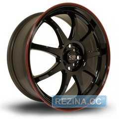 Легковой диск ROTA P1 Black Red Lip - rezina.cc