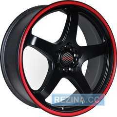 Легковой диск TENZO RACING Tracer V1 Matte Black w/Red Stripe - rezina.cc