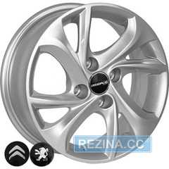 Купить Легковой диск REPLICA PEUGEOT TL4010 S R15 W6 PCD4x108 ET23 DIA65.1