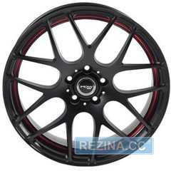 Легковой диск PDW Kaiser Matte Black With Red Under Cut - rezina.cc