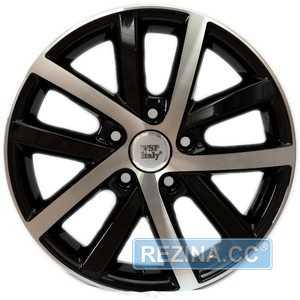 Купить Легковой диск WSP ITALY W460 Rheia GLOSSY BLACK POLISHED R16 W6.5 PCD5x112 ET54 DIA57.1