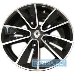 Купить Легковой диск REPLAY RN14 BKF R15 W6.5 PCD5x114.3 ET43 DIA66.1