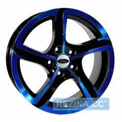 Купить Легковой диск PDW Halo Black With Blue Cover R16 W7 PCD5x108 ET38 DIA63.4