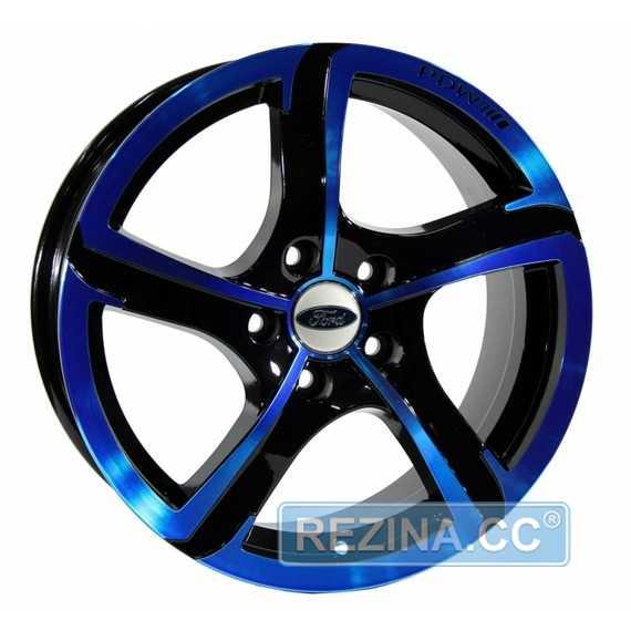 Купить Легковой диск PDW Halo Black With Blue Cover R16 W7 PCD5x108 ET38 DIA63.4