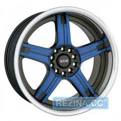 Купить Легковой диск SPORTMAX RACING SR-507 Blue Plus Black R18 W7.5 PCD5x112/114.3 ET42 DIA67.1