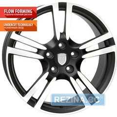 Купить WSP ITALY PORSCHE SATURN DULL BLACK POLISHED W1054 R21 W10.5 PCD5x130 ET57 DIA71.6