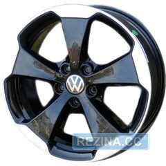 Купить WSP ITALY W465 Laceno Glossy Black Polished R19 W7.5 PCD5x112 ET51 DIA57.1