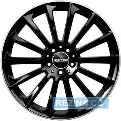 Купить Легковой диск GMP Italia STELLAR Shiny Black Diamond Lip R22 W11 PCD5x112 ET15 DIA66,6