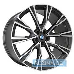 Купить Легковой диск REPLICA B987 MATTE GRAPHITE WITH MATTE POLISHED FORGED R21 W9.5 PCD5x112 ET36 DIA66.6