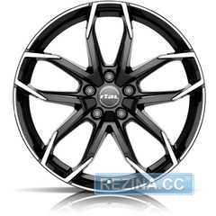 Купить RIAL Lucca Diamond Black Front Polished R17 W6.5 PCD4x108 ET20 DIA65.1