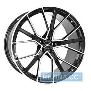 Купить REPLICA FORGED A970 GLOSS-BLACK-WITH-MACHINED-FACE​ FORGED R22 W10 PCD5x112 ET21 DIA66.5