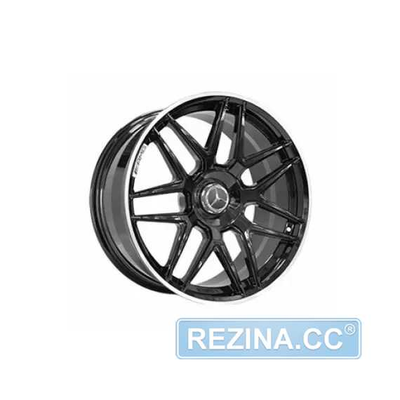 Купить REPLICA FORGED MR1039 GLOSS-BLACK-WITH-STRIP FORGE​D R20 W8 PCD5x112 ET33 DIA66.6