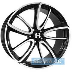 Купить REPLICA FORGED BN1040R GLOSS BLACK WITH MATTE POLISHED FORGED R21 W9.5 PCD5x112 ET41 DIA57.1