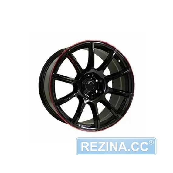 Купить Off Road Wheels OW1012 GLOSSY BLACK RED LINE RIVA RED R18 W8 PCD6x139.7 ET10 DIA110.5