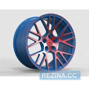 Купить Легковой диск WS FORGED WS2106 MATTE_BLUE(INSIDE)_WITH_RED(OUTSIDE)_FACE_FORGED R20 W9.5 PCD5X114.3 ET30 DIA70.5