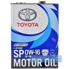 Купить Моторное масло TOYOTA Synthetic Motor Oil 0W-16 SP/GF6B (4л)
