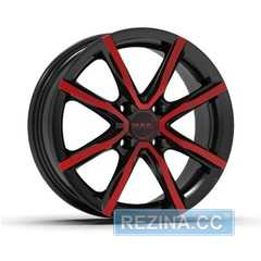 Купить Легковой диск MAK Milano 4 Black and red R15 W6 PCD4x100 ET38 DIA60.1