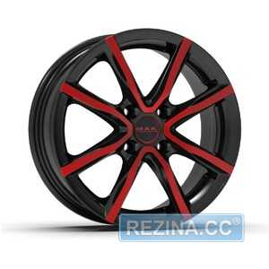 Купить Легковой диск MAK Milano 4 Black and red R16 W6.5 PCD4x100 ET35 DIA72