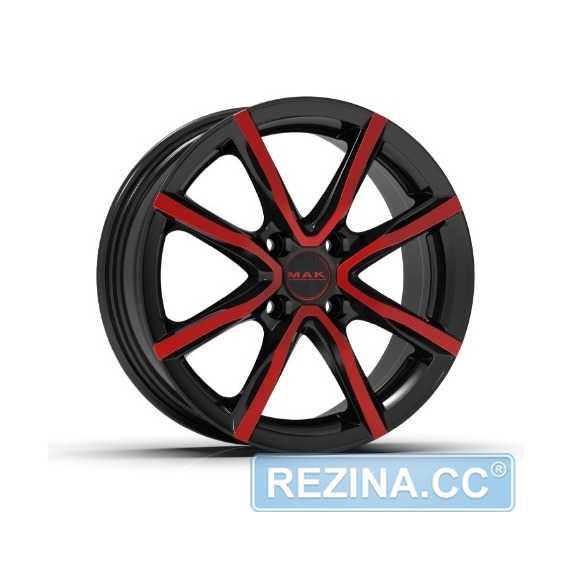 Купить Легковой диск MAK Milano 4 Black and red R16 W6.5 PCD4x100 ET35 DIA72