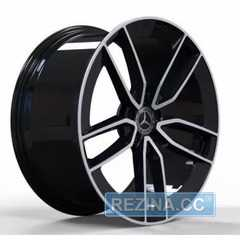 Купить Легковой диск REPLICA FORGED MR399B GLOSS-BLACK-WITH-MACHINED-FACE_FORGED R22 W10 PCD5X112 ET56.1 DIA66.6