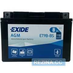 Купити Акумулятор EXIDE AGM (ET9B-BS) 8Ah-12v (150х70х105) L, EN110